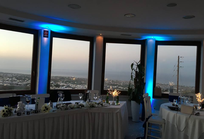UPLIGHTING AT PYRGOS RESTAURANT – WEDDING AT PYRGOS RESTAURANT
