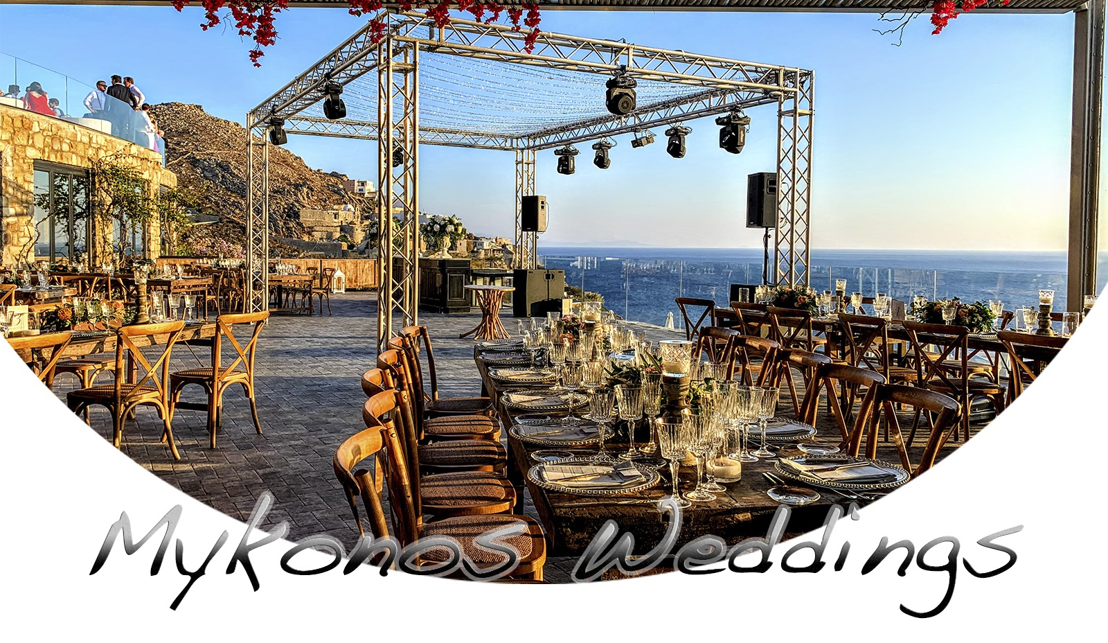 Fountains at Le ciel Santorini, wedding dj in Greece, wedding packages for Santorini Greece, fireworks in Santorini at Le Ciel, Santorini Brides,